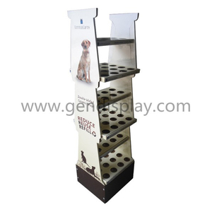 Cardboard Pet Products Floor Display Stand(GEN-FD324)
