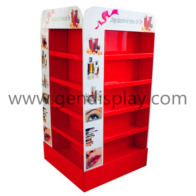 Pos Cardboard Make Up Display Stand, POP Cosmetic Display Unit(GEN-FD092)