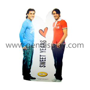 Cardboard Stweet Years Garments Advertising Standee Display (GEN-SD023)