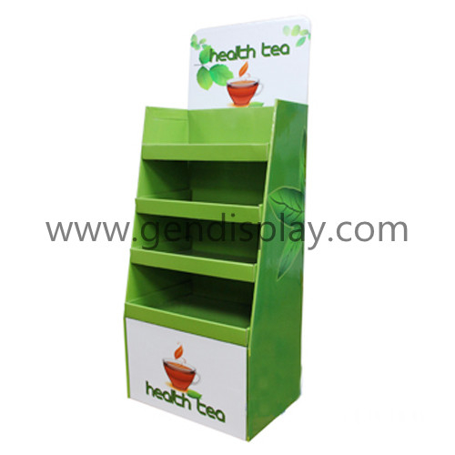 Promotional Cardboard Display Shelf For Tea, Tea Display Stand (GEN-FD306)