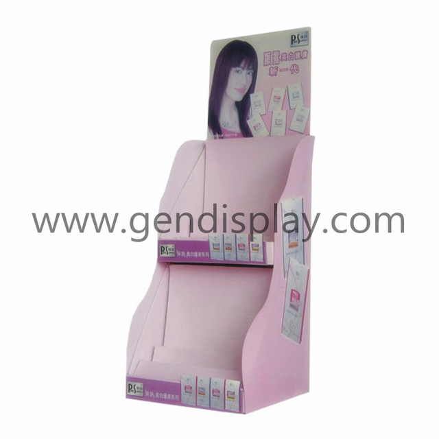 Two Layers Cardboard Cosmetic Counter Display (GEN-CD043)
