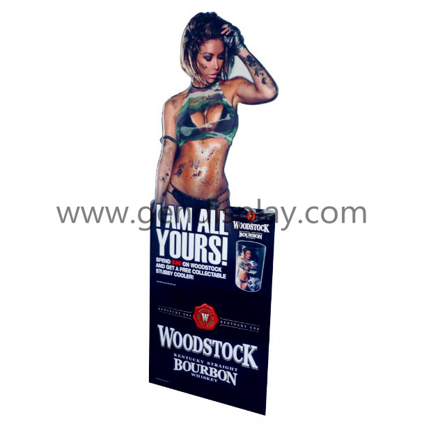 Promotional Cardboard Wine Standee Display(GEN-SD009)