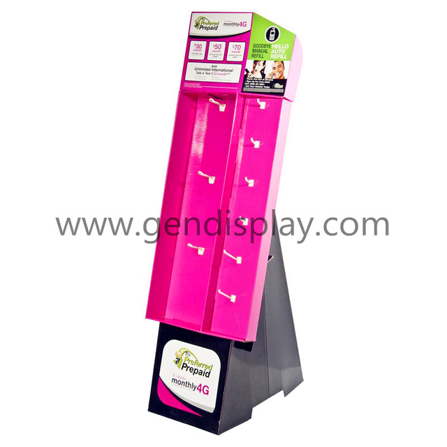 Cardboard Pop Custom Hooks Display Stand (GEN-HD022)