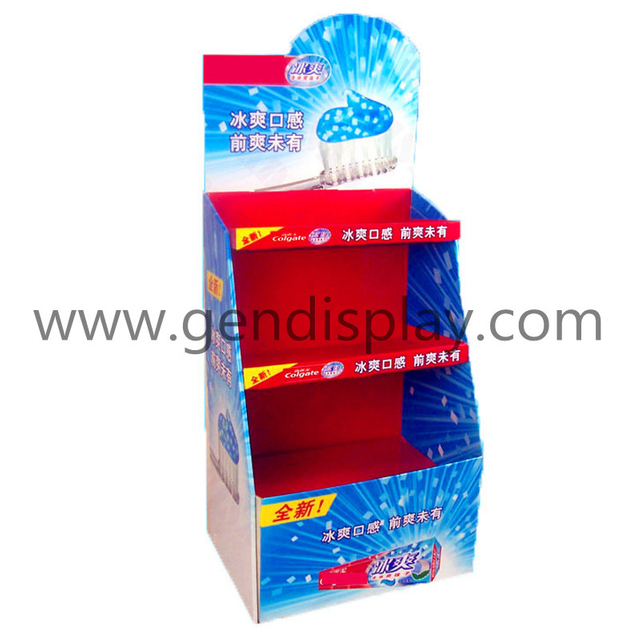 Toothpaste Cardboard Display Shelf, Custom Floor Display Stand(GEN-FD115)