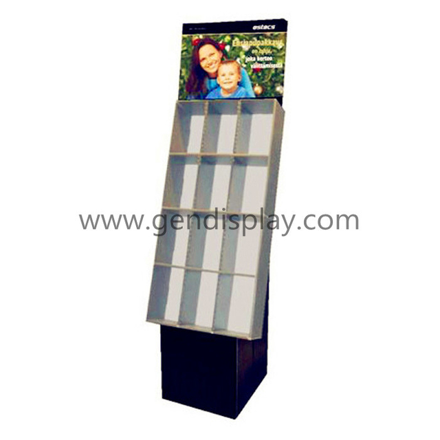 Floor Pockets Display ,Compartments Display Stand (GEN-CP064)