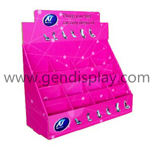 Cardboard Insoles Counter Display With Cells(GEN-CD058)
