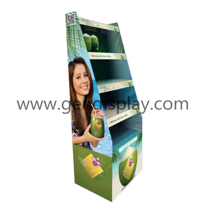Custom Drinks Display ,Cardboard Beverage Display Stand(GEN-FD327)