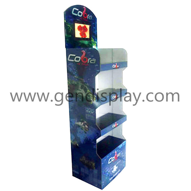 Floor Display with Digital Photo Frame For Toys Promotion (GEN-FD122)