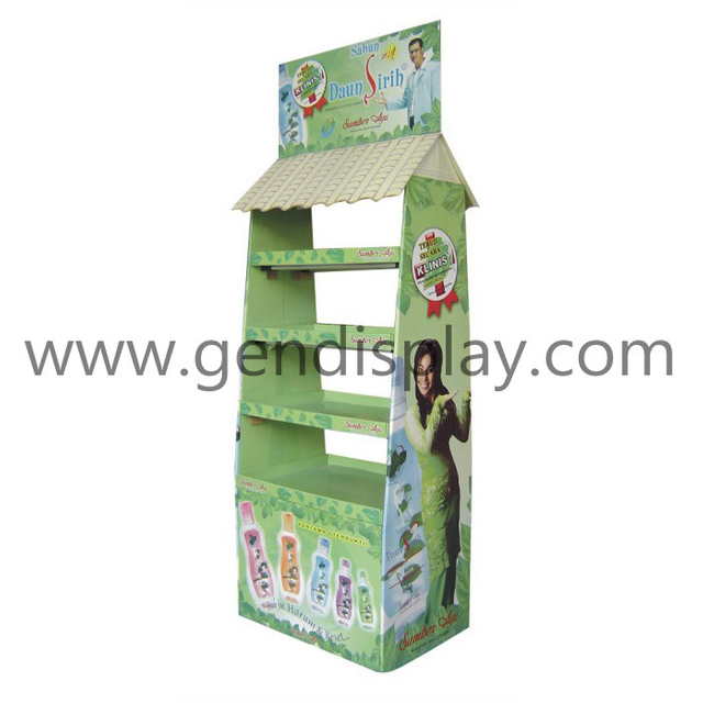 Custom Pop Paper Display Stand, Pos Floor Display (GEN-FD040)