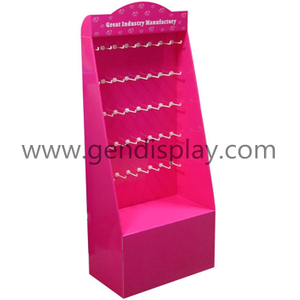 POP Cardboard Gift Hooks Display, Pos Display Stand (GEN-HD017)