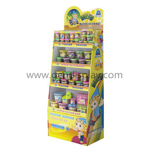 Promotional Cardboard Floor Display Shelf For Kid's Toys (GEN-FD282)