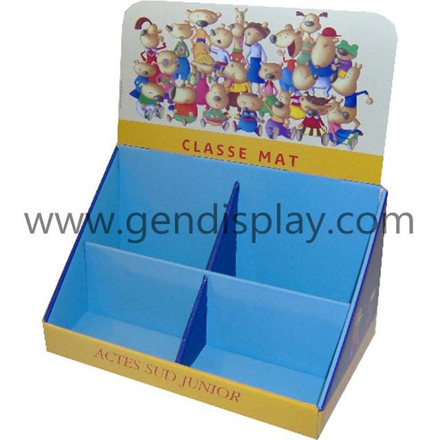 Promotional Cardboard Class Mat Counter Display Stand (GEN-CD103)