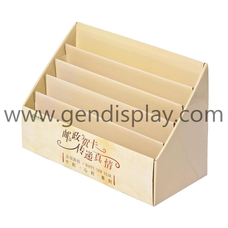 Retial Pos Cardboard Counter Display Stand For Cards (GEN-CD081)