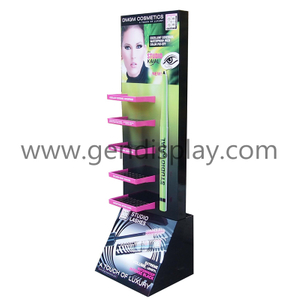 Cardboard Custom Eyeliner Cosmetic Floor Display Stand(GEN-FD294)