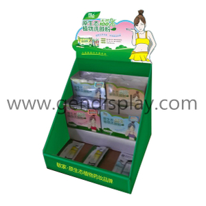 Pos Cardboard Cosmetic Counter Display, Pop Counter Display(GEN-CD247)