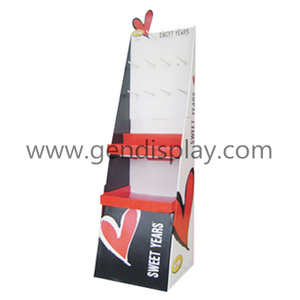 Custom Cardboard Gift Display, Gift Hooks Display Stand (GEN-HD062)