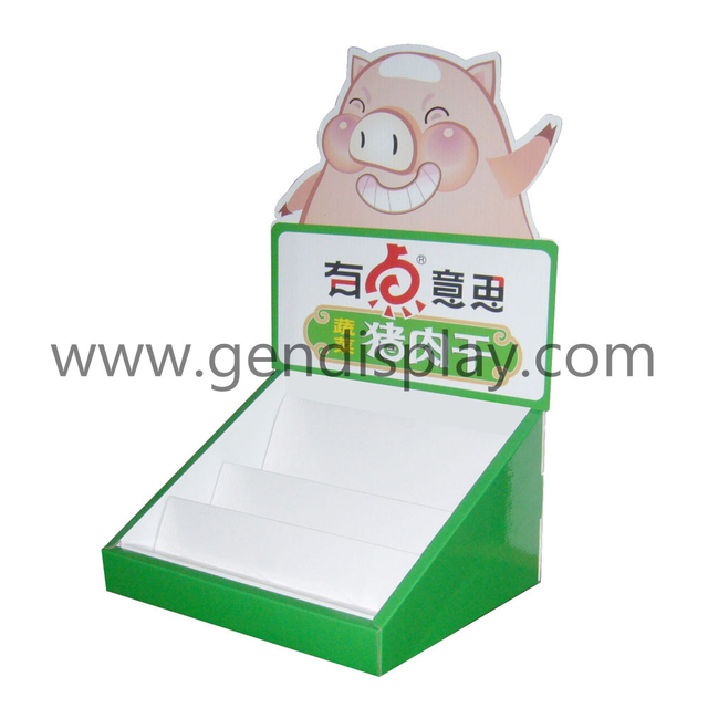 Pos Cardboard Snacks Counter Display Box (GEN-CD030)