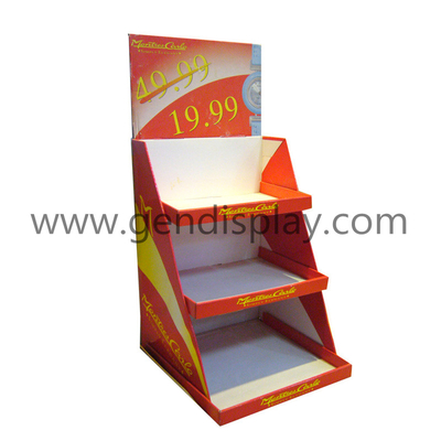 Promotional Cardboard Counter Display Stand For Watches Advertising(GEN-CD023)