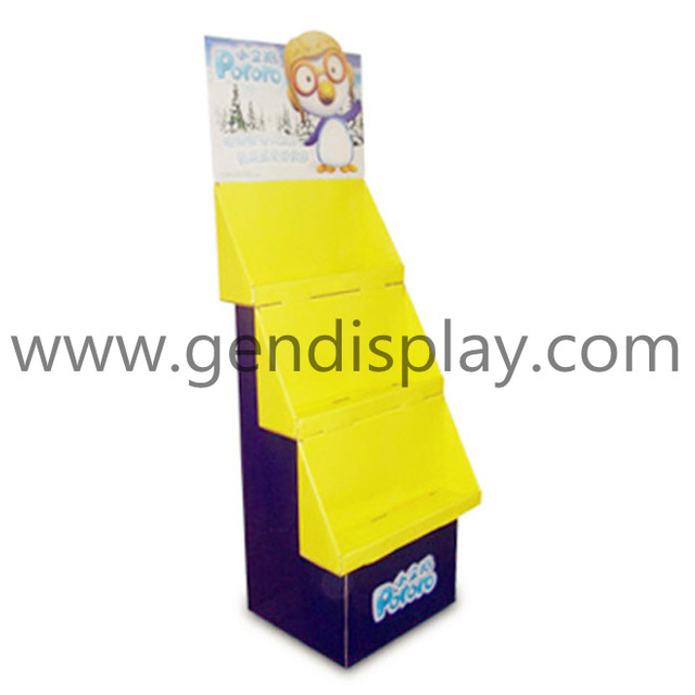 Pos Cardboard Floor Display Shelf For Toys Promotion(GEN-FD084)