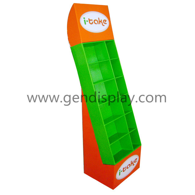 Cardboard Pockets Display, Pop Compartment Display Stand (GEN-CP002)