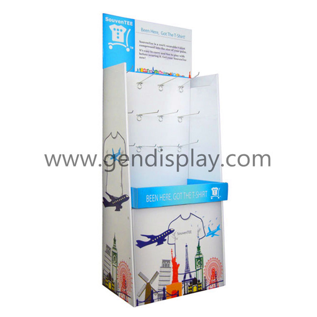 Cardboard Clothes Hooks Display With Full Color Printing(GEN-HD024)