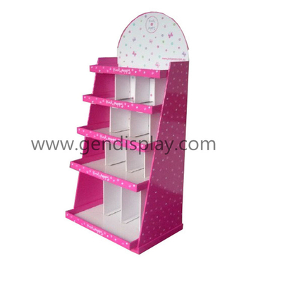 Promotional Bag Cardboard Display Shelf,Pos Paper Display (GEN-FD024)