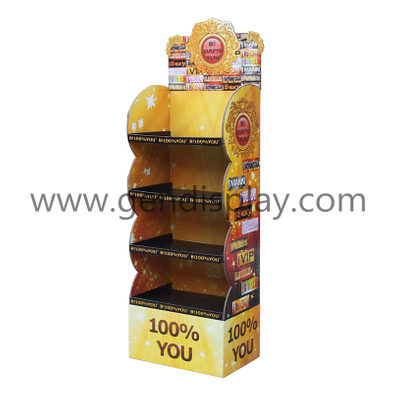 Customized Cardboard Floor Display, Cardboard Toys Floor Display Stand (GEN-FD246)