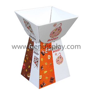 Pop Advertising Custom Cardboard Chocolate Dump Bins Display Stand (GEN-DB007)