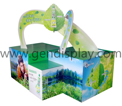 Advertising Custom Cardboard Toothpaste Pallet Dispaly Stand(GEN-PD014)
