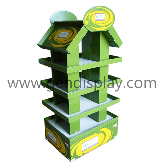 Cardboard Floor Display Shelf, Pos Floor Display (GEN-FD021)