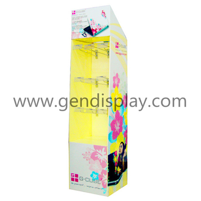 G-CUBE Cardboard Hooks Display,Paper Hooks Display Stand(GEN-HD007)