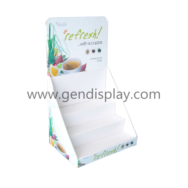 Custom Cardboard Tea Counter Display, Pos Counter Tea Display (GEN-CD003)