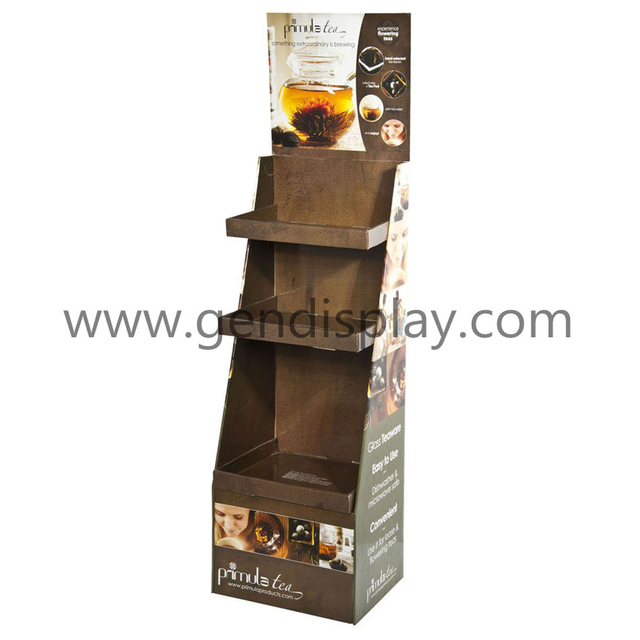 Promotional Tea Display, Custom Tea Display Shelf (GEN-FD126)