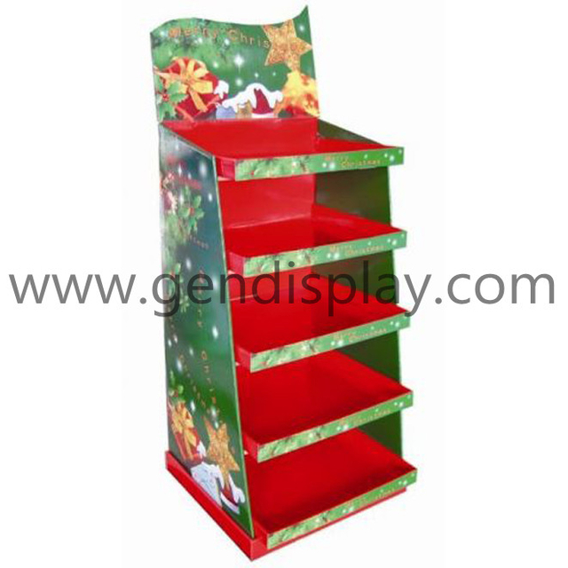 Christmas Floor Display, Cardboard Gift Display (GEN-FD129)