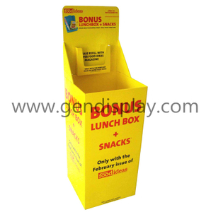 Promotional Cardboard Snacks Dump Bins Display Stand(GEN-DB004)
