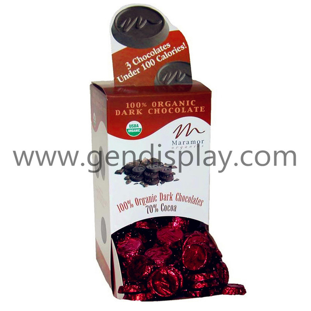 Cardboard Chocolate Counter Display,Counter Display(GEN-CD069)