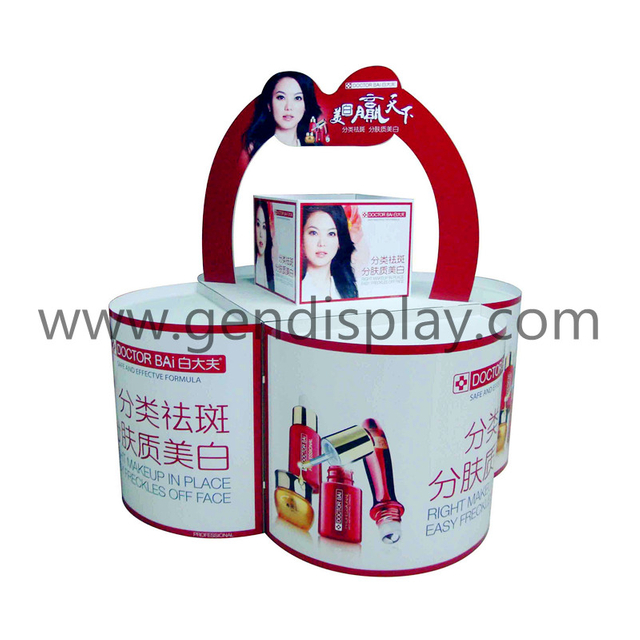 Supermarket Cardboard Cosmetic Pallet Display Stand(GEN-PD015)