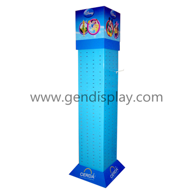 Cardboard Disney Toys Four Sides Hooks Display Stand (GEN-HD018)