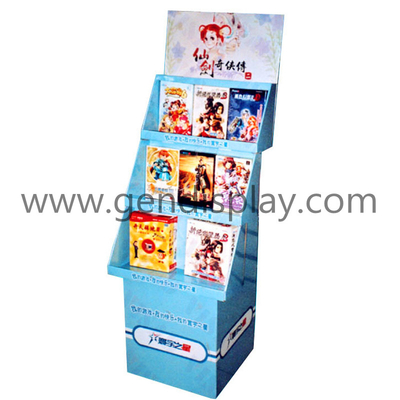 Pop Cardboard Floor Display Shelf, Custom CD Display Unit (GEN-FD110)