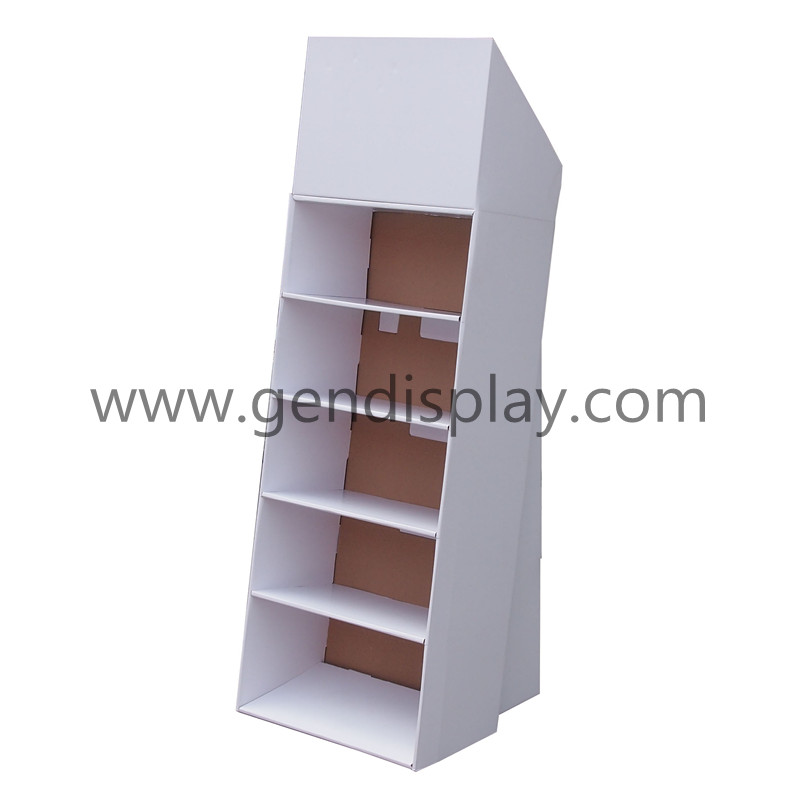 Cardboard Display Rack , Pos Floor Display Shelf(GEN-FD025)
